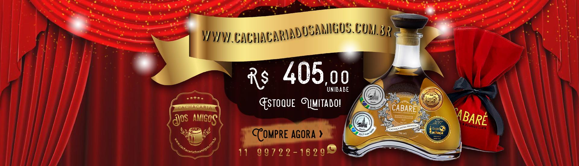 Cachaça Cabaré Extra Premium - cachacaria dos amigos